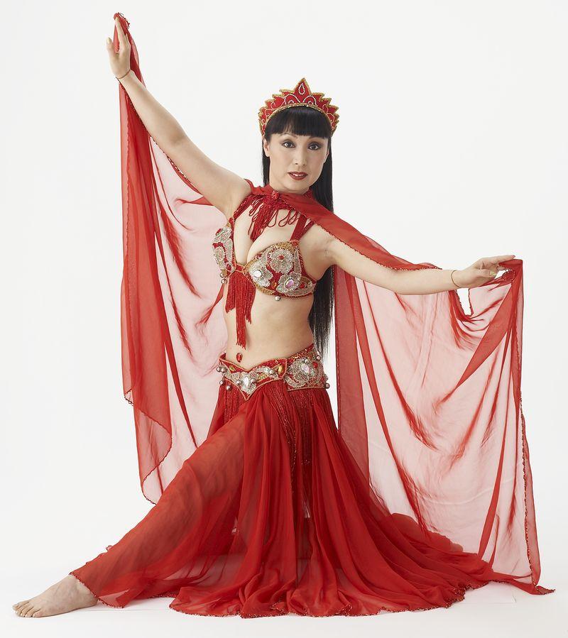 赤のベリーダンス衣装